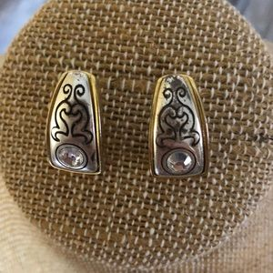 Vintage Brighton earrings silver and gold tone